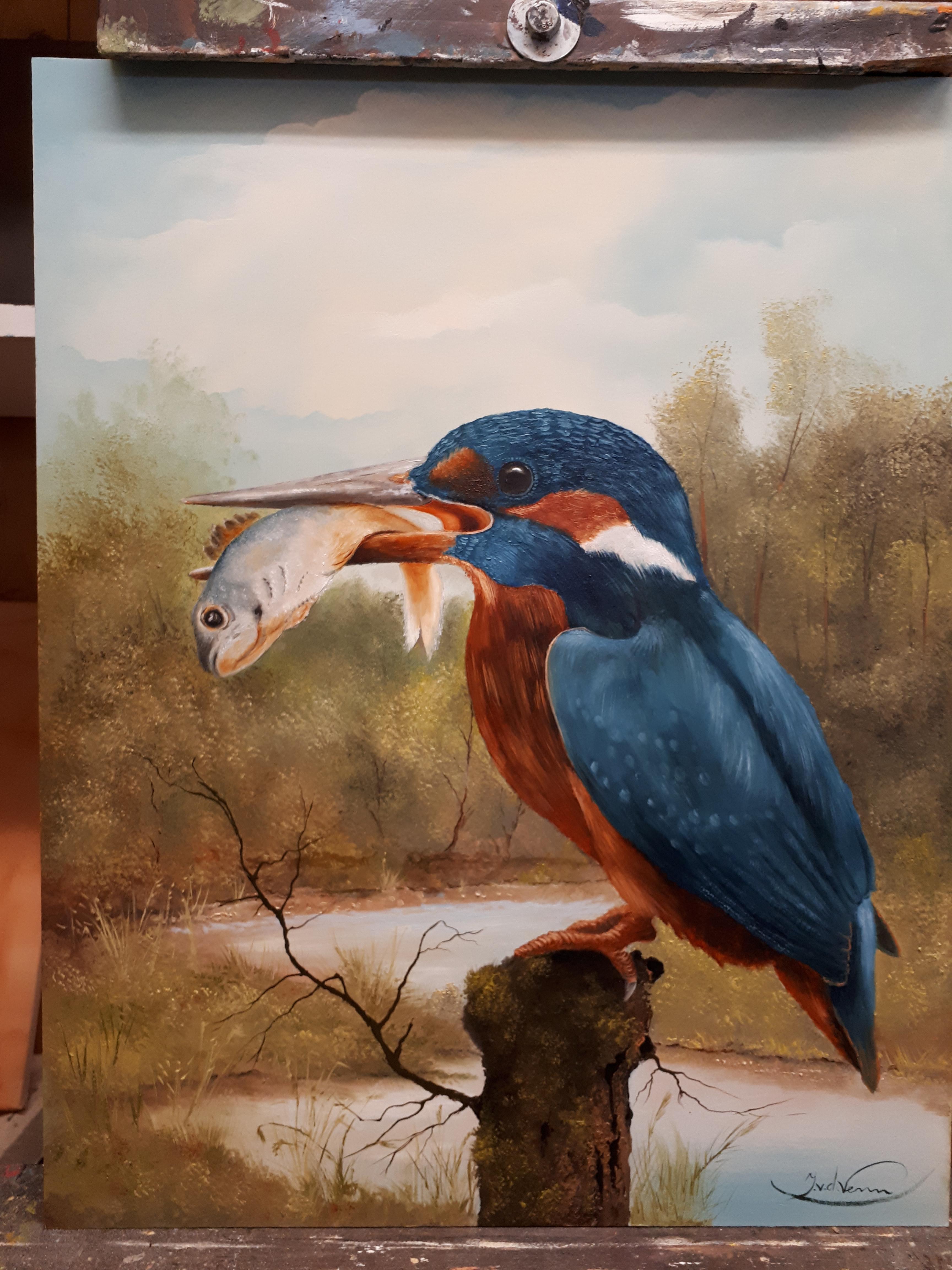 Ijsvogel 40x50 paneel.