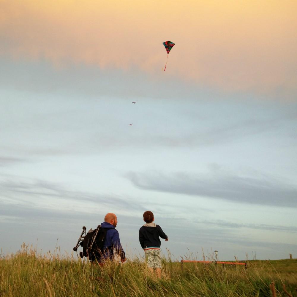 Vliegeren aan de kust
