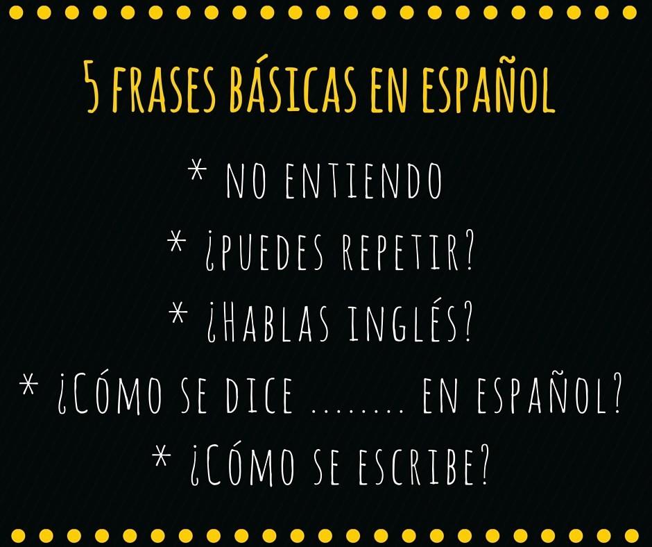 5 basiszinnen in het Spaans