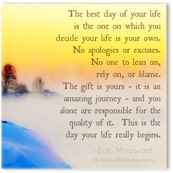 De beste dag van je leven is nu
