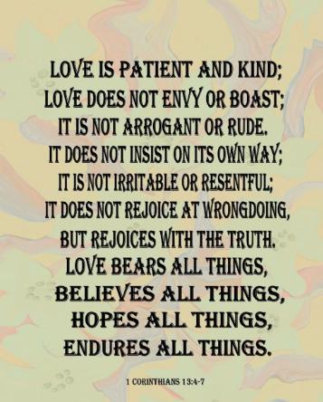 Corinthian 13:4-7